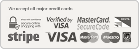 We Acccept All Major Credit Cards
